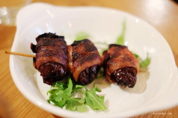 Bacon-wrapped dates at Boqueria, New York
