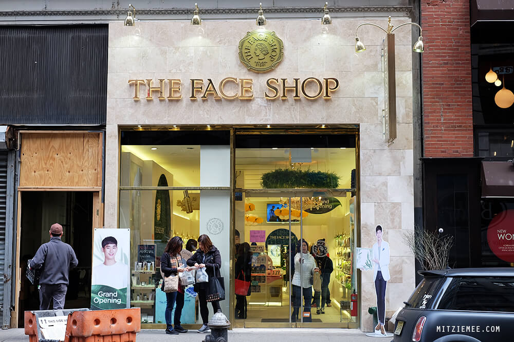 The Face Shop in Koreatown, New York
