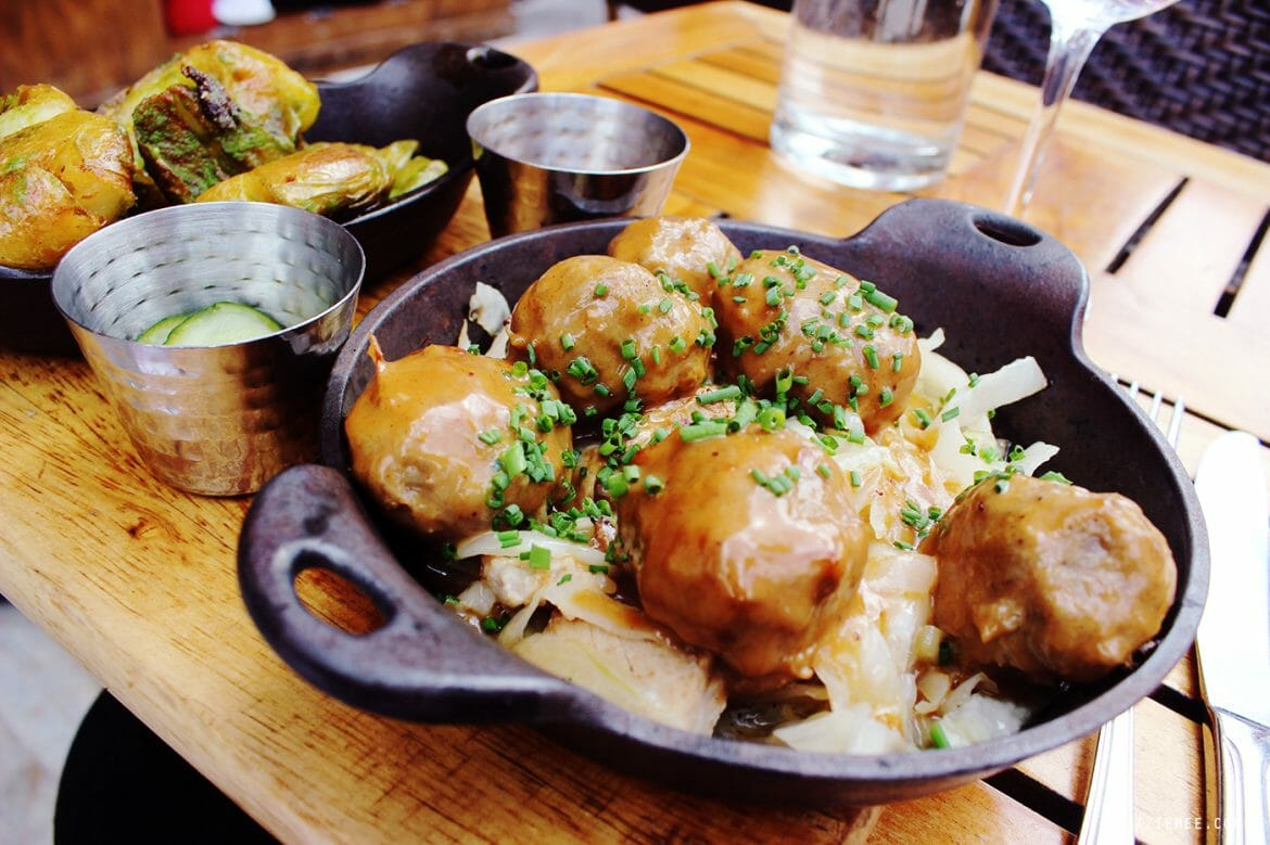 Helga's meatballs, Red Rooster in Harlem, New York