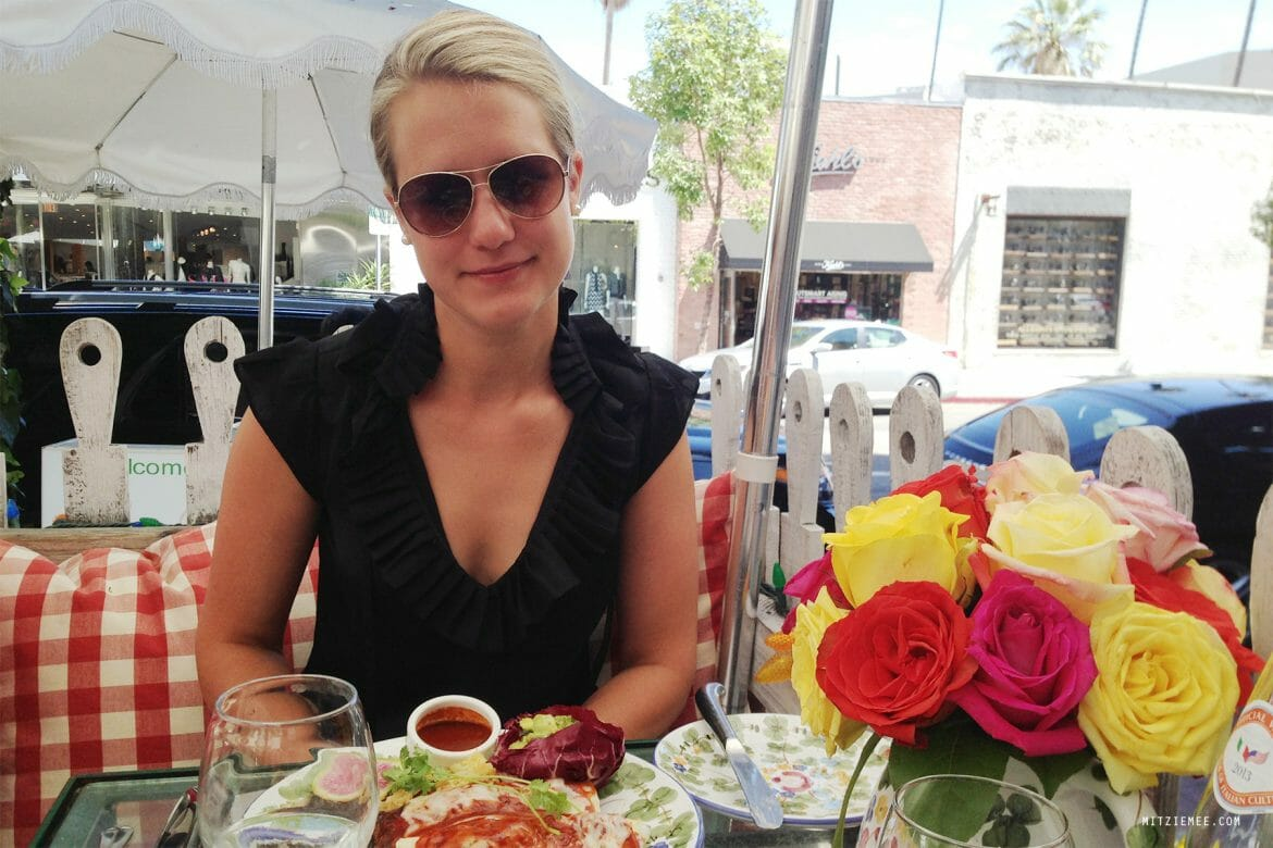 Brunch på The Ivy i Los Angeles