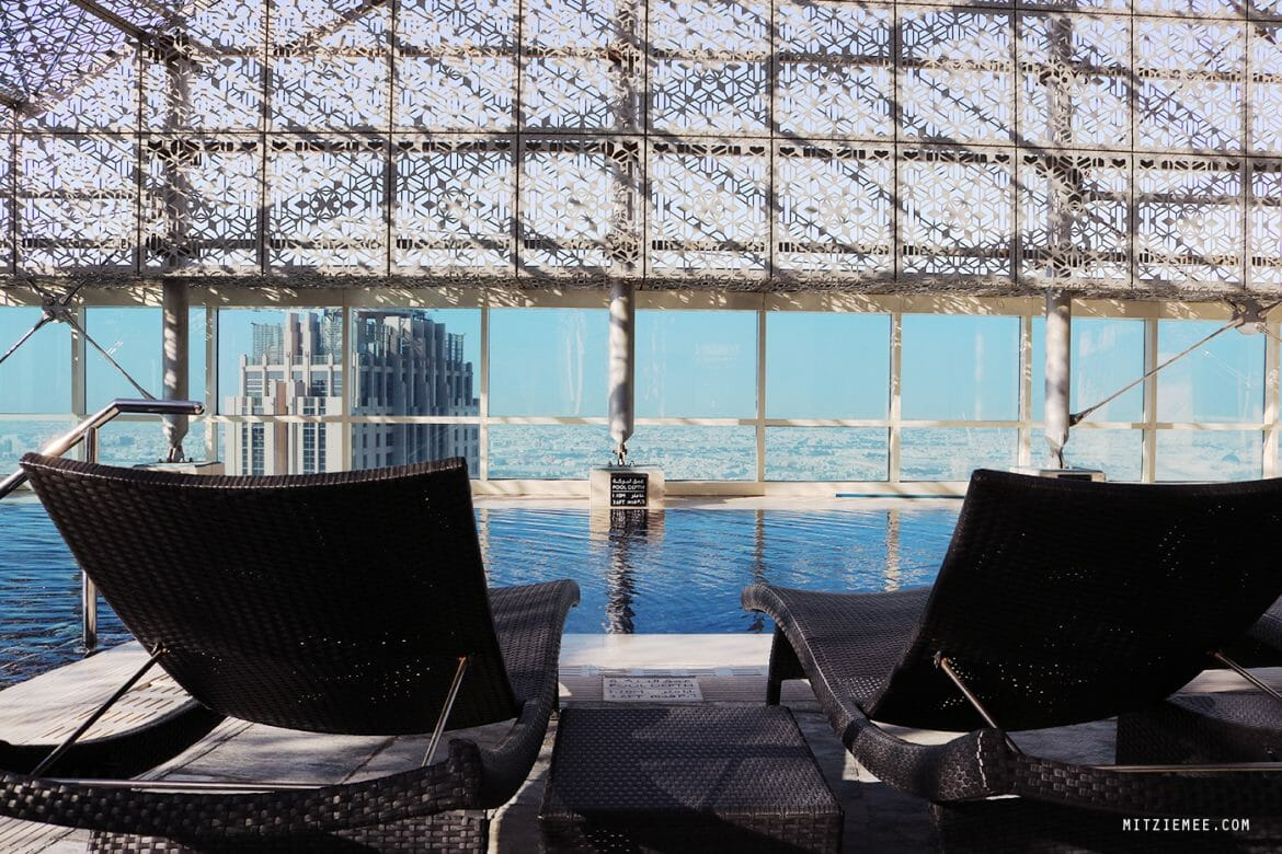 The pool at Intercontinental Doha The City