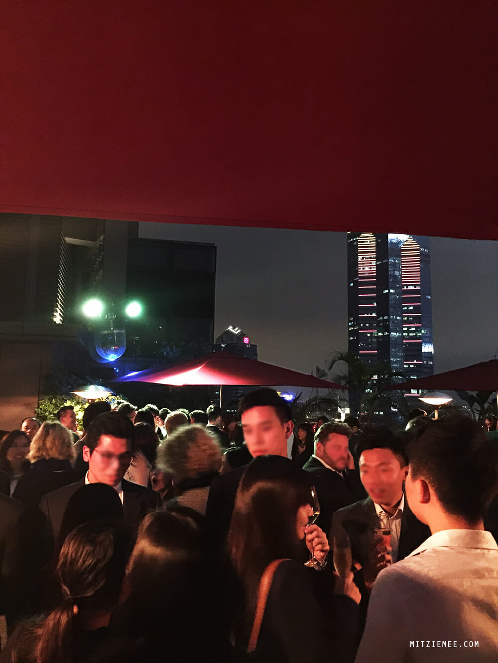 Cé La Vi rooftop bar in Lan Kwai Fong, Hong Kong