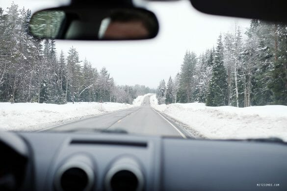 Driving to Trysil, road trip in Norway