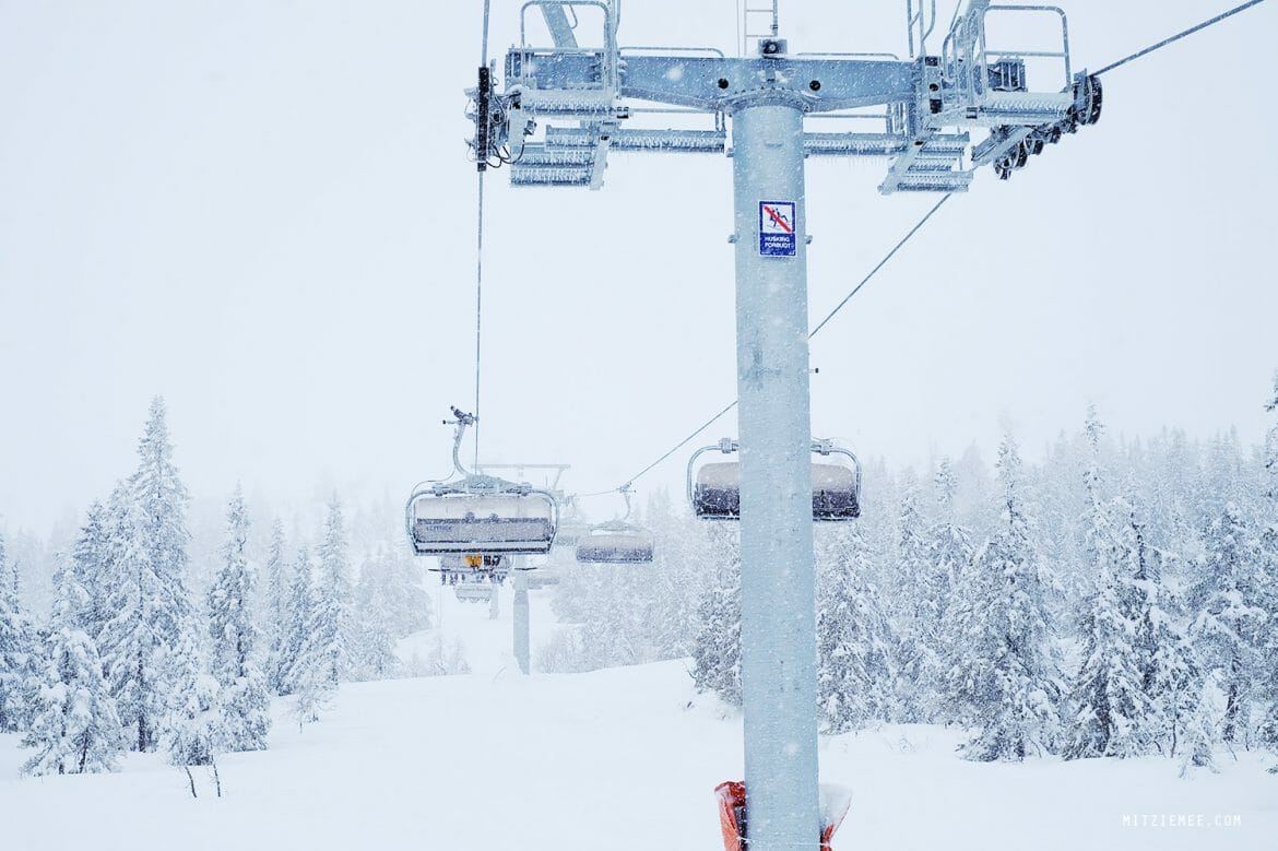 Skiing in Trysil, Norway