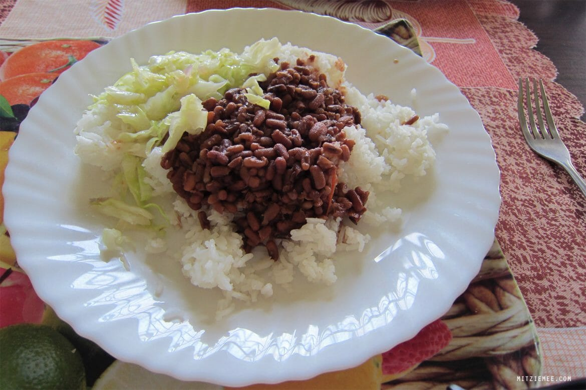 Something with beans and rice, Kenyan food