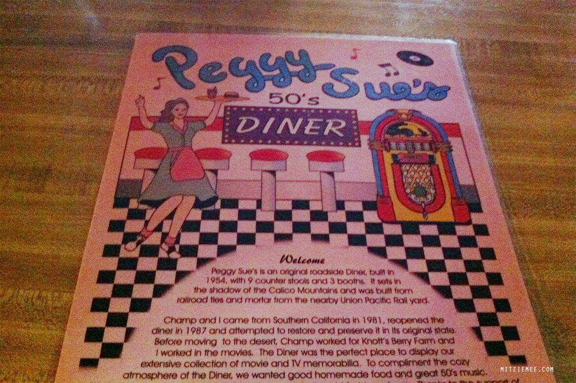Peggy Sue's Diner, Driving to Las Vegas
