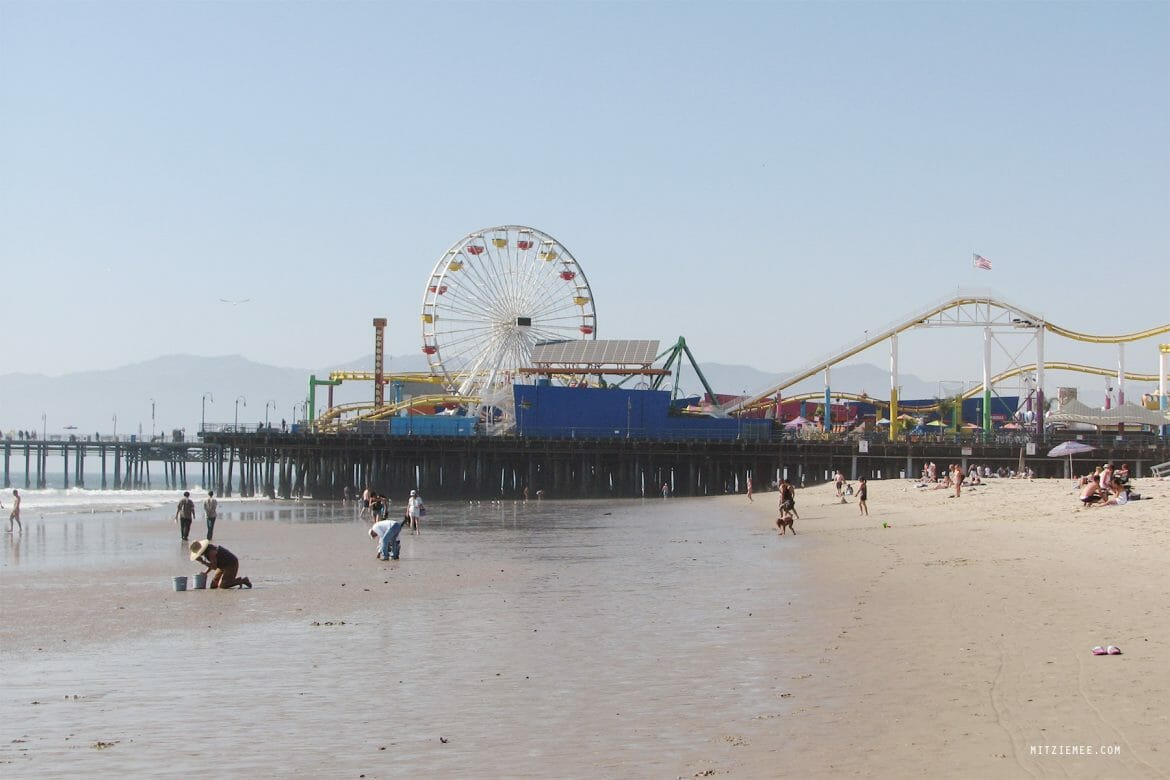 Santa Monica Pier i Los Angeles