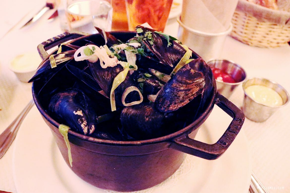 Moules Frites at Balthazar, SoHo, New York