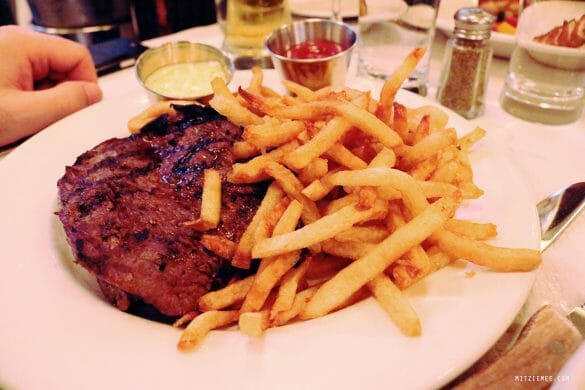 Steak Frites at Balthazar, SoHo, New York