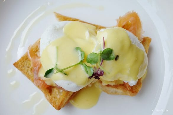Eggs Benedict with salmon at The Coffee Club Dubai