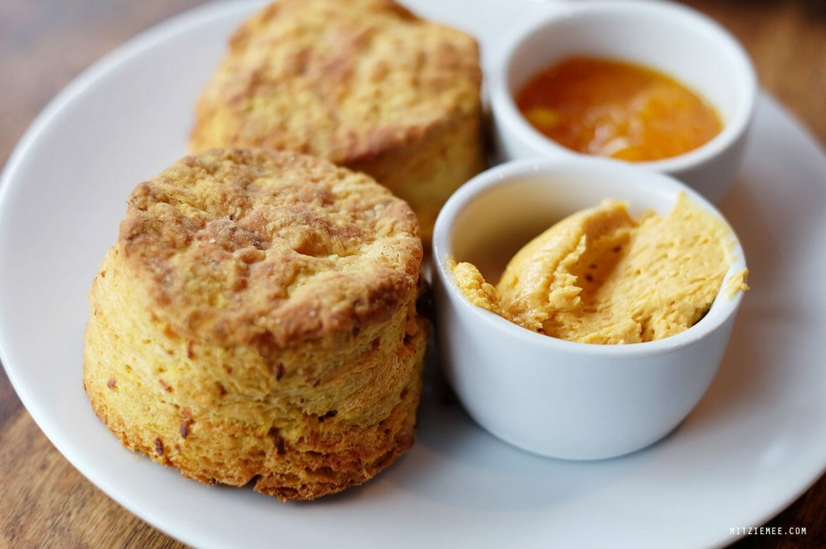 Squash biscuits at Dirt Candy, New York