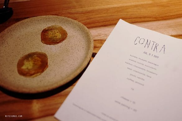 Contra tasting menu, Lower East Side, New York City