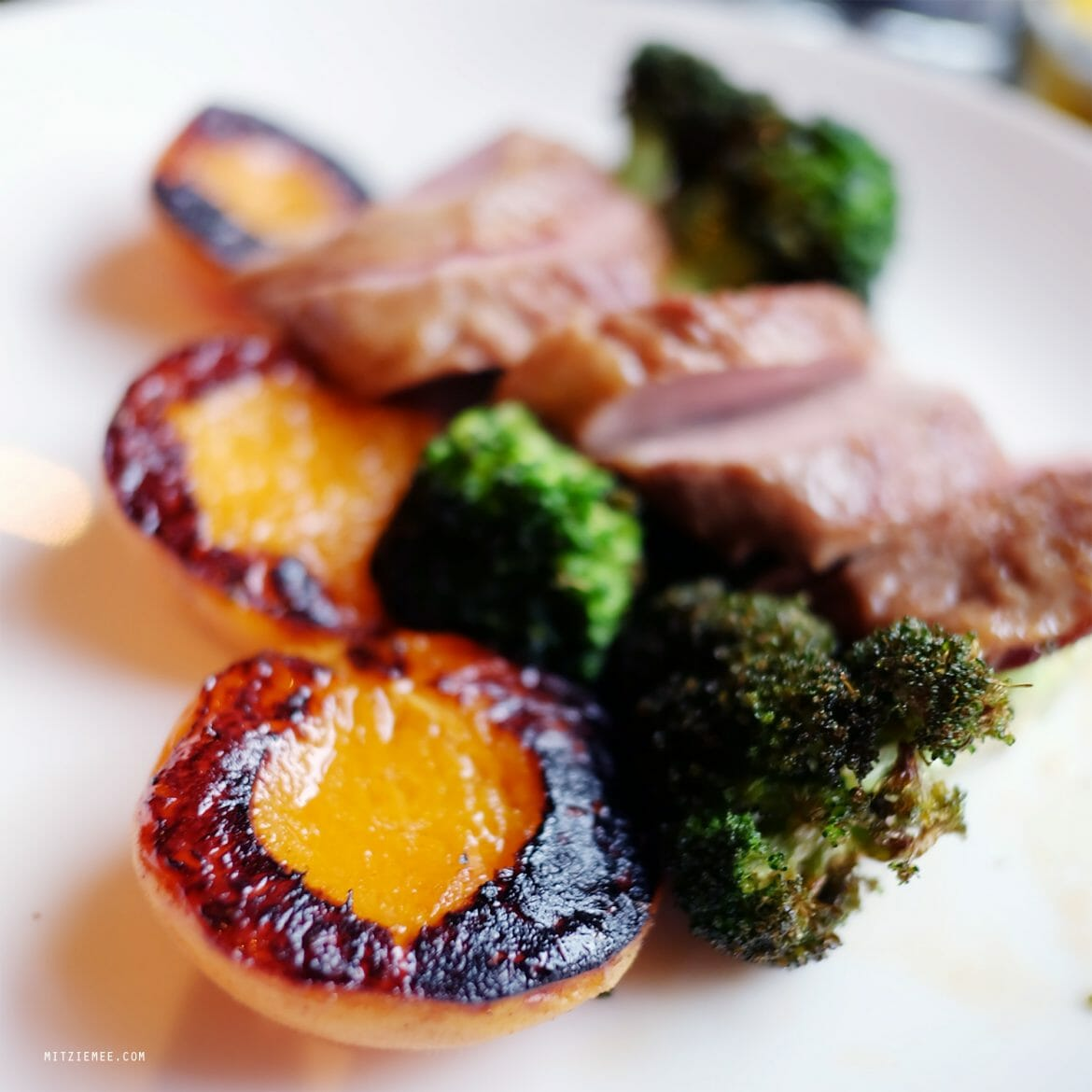 Pork neck with apricots at Faun, Brooklyn
