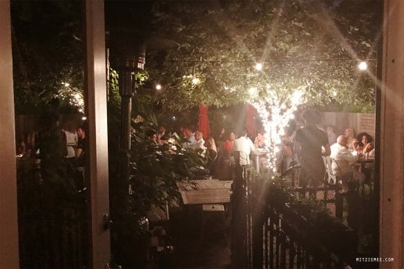 The garden at Faun, Brooklyn
