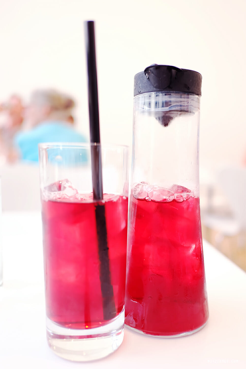 Hibiscus iced tea, Terrace 5, MoMA, New York