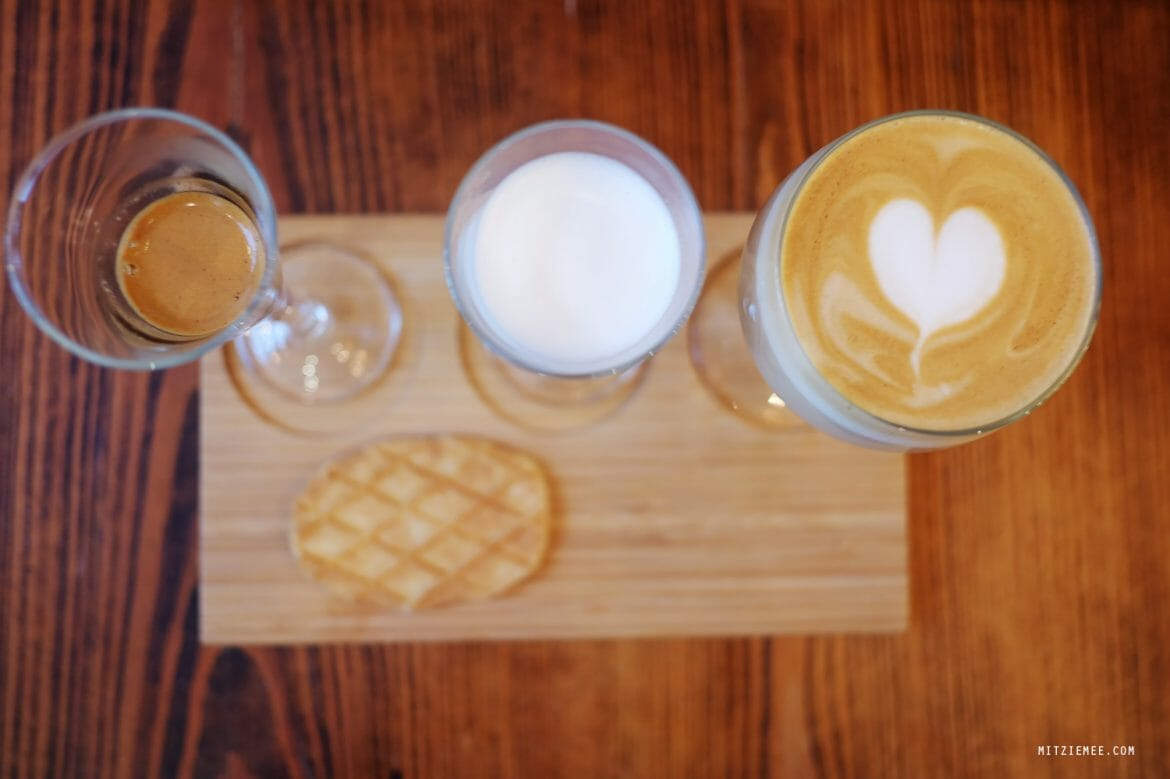 Deconstructed Latte at Coffee Project, New York