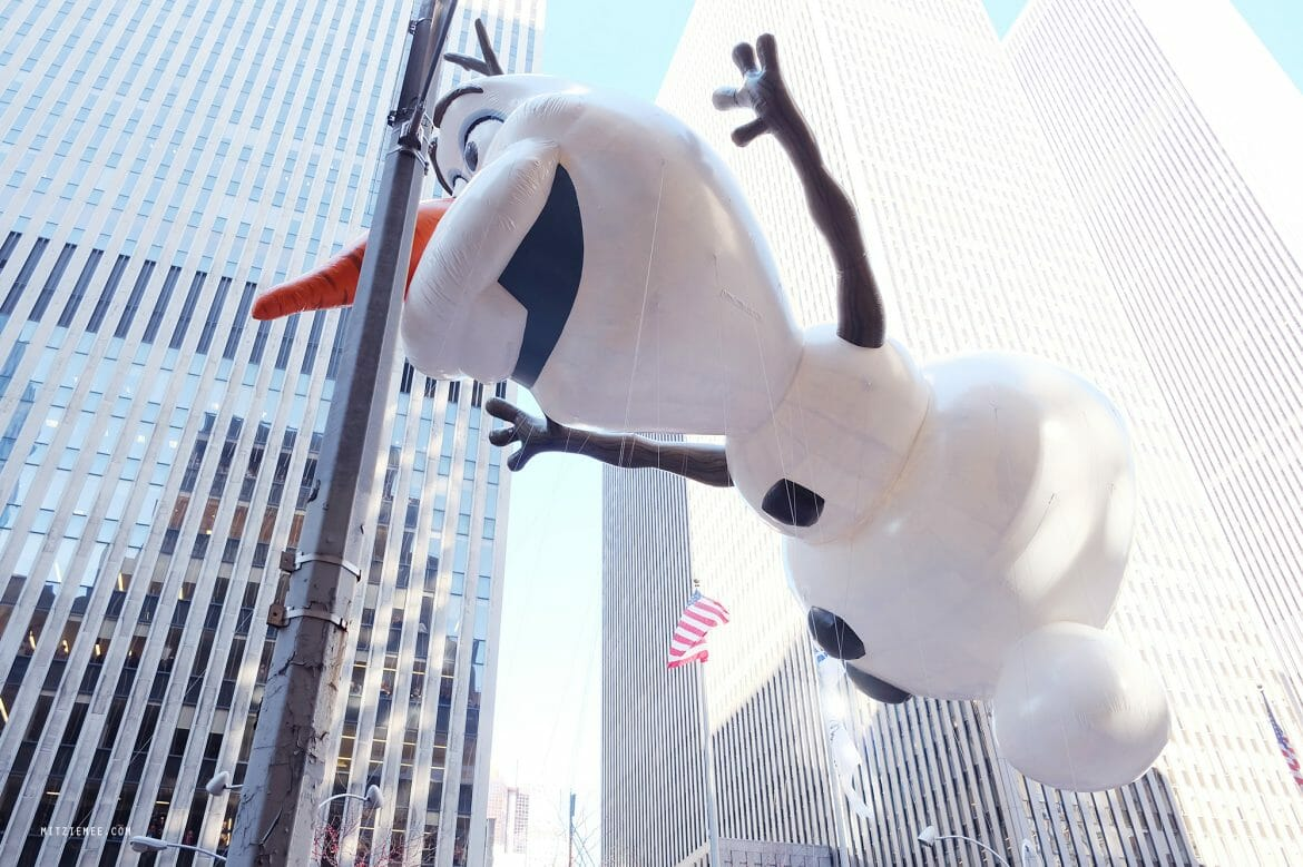 Olaf at Macy's Thanksgiving Day Parade, New York City
