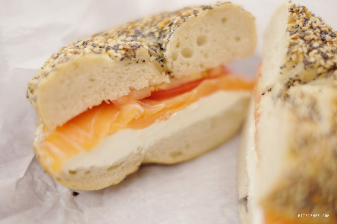 Everything Bagel at Ess-a-Bagel, New York