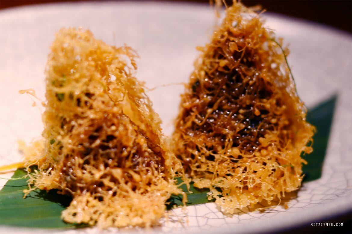 Egg nets at Nahm, Bangkok restaurant