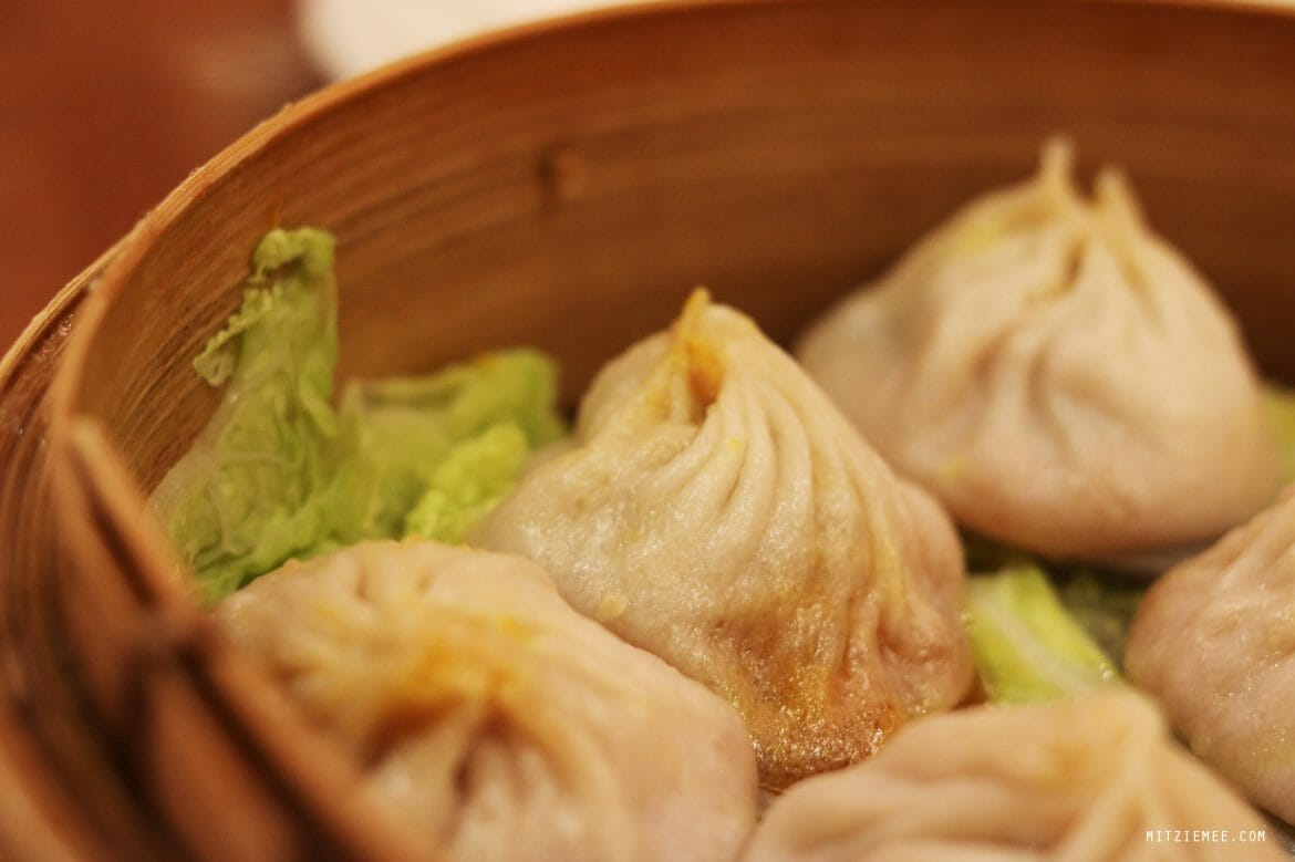 Soup dumplings, xiao long bao, at Joe's Shanghai, New York