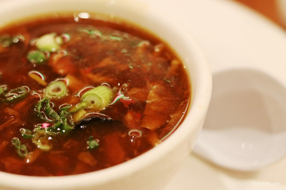 Hot and sour soup at Joe's Shanghai, Chinatown, New York