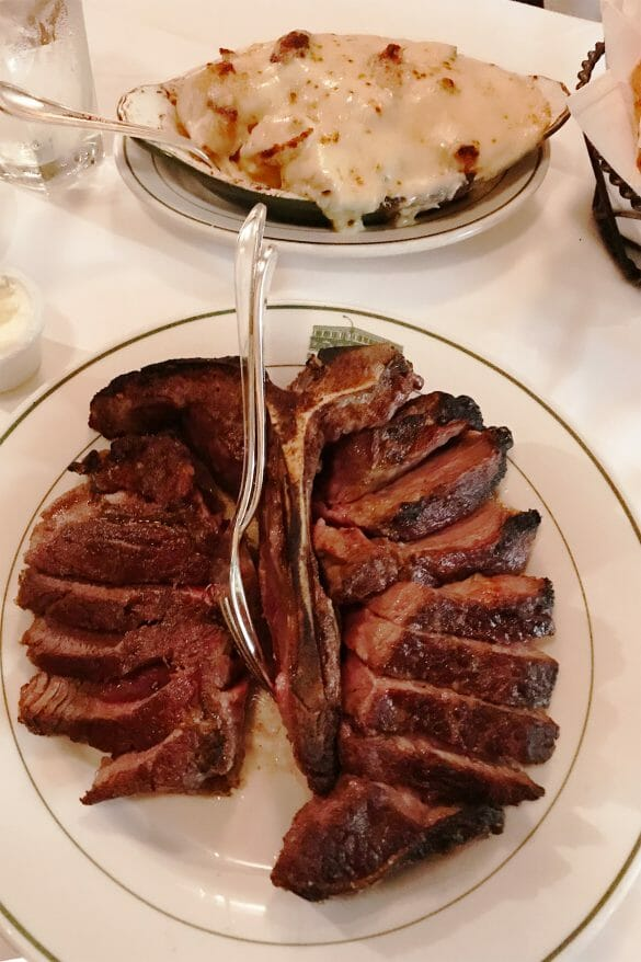 Porterhouse steak at Smith & Wollensky, New York