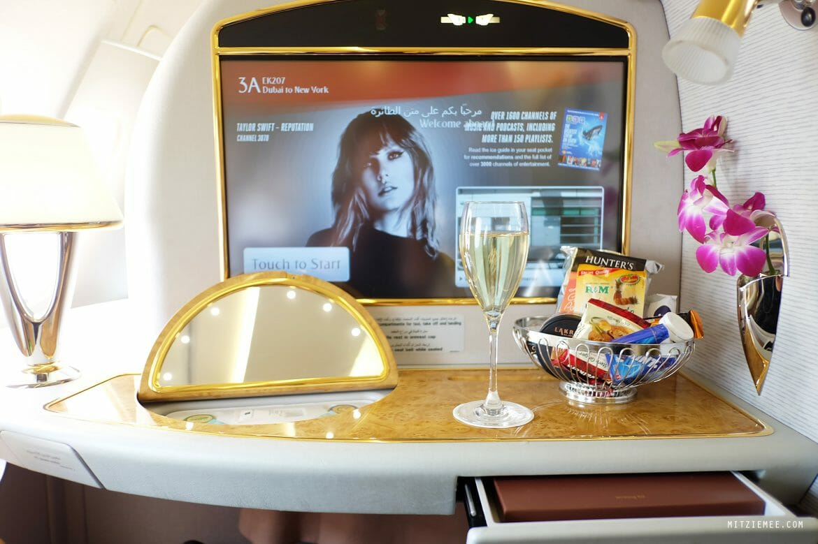 Emirates Airbus 380 First Class suite