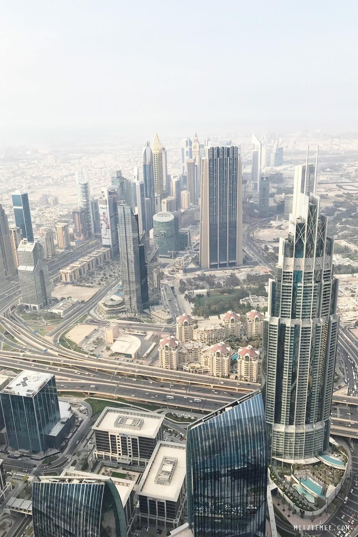 View from Burj Khalifa Dubai