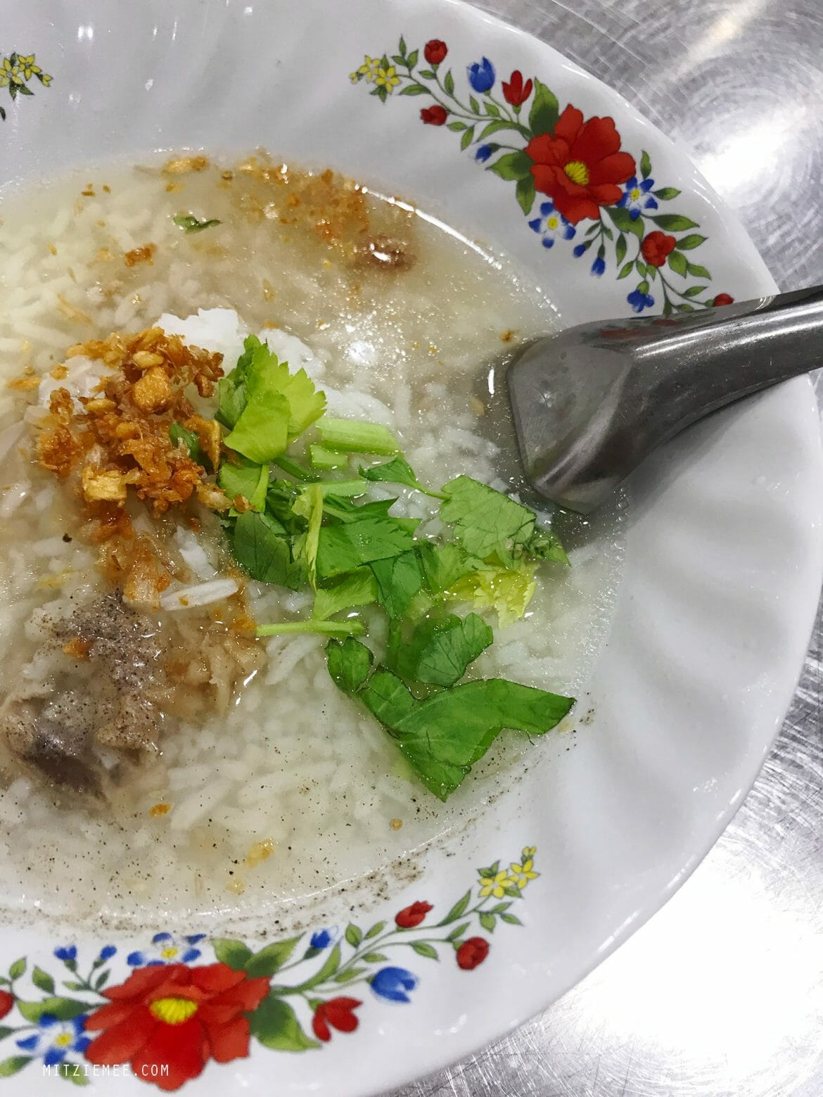 Khao Tom, rice soup, Charoen Krung Road, Bangkok