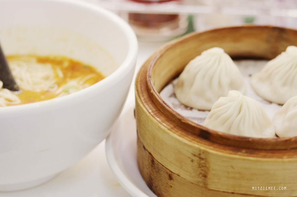 La mian and xlb at Crystal Jade in Hong Kong Airport