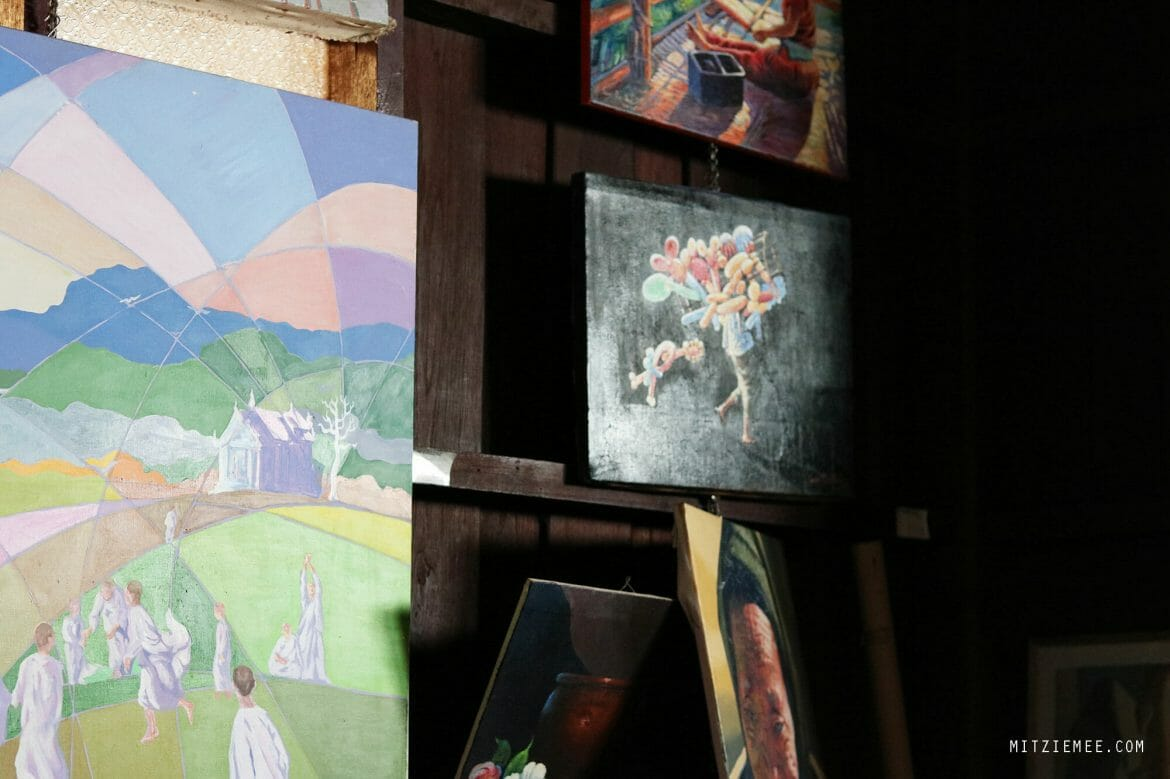 Art gallery at Borderline Collective in Mae Sot