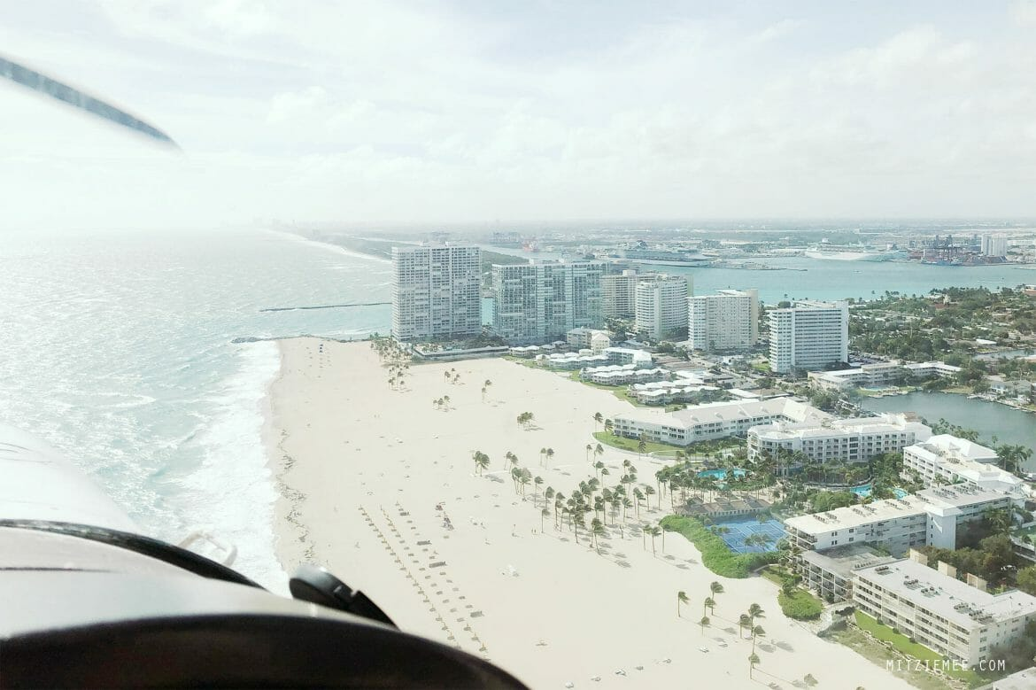 South Beach Miami seen from a Cessna
