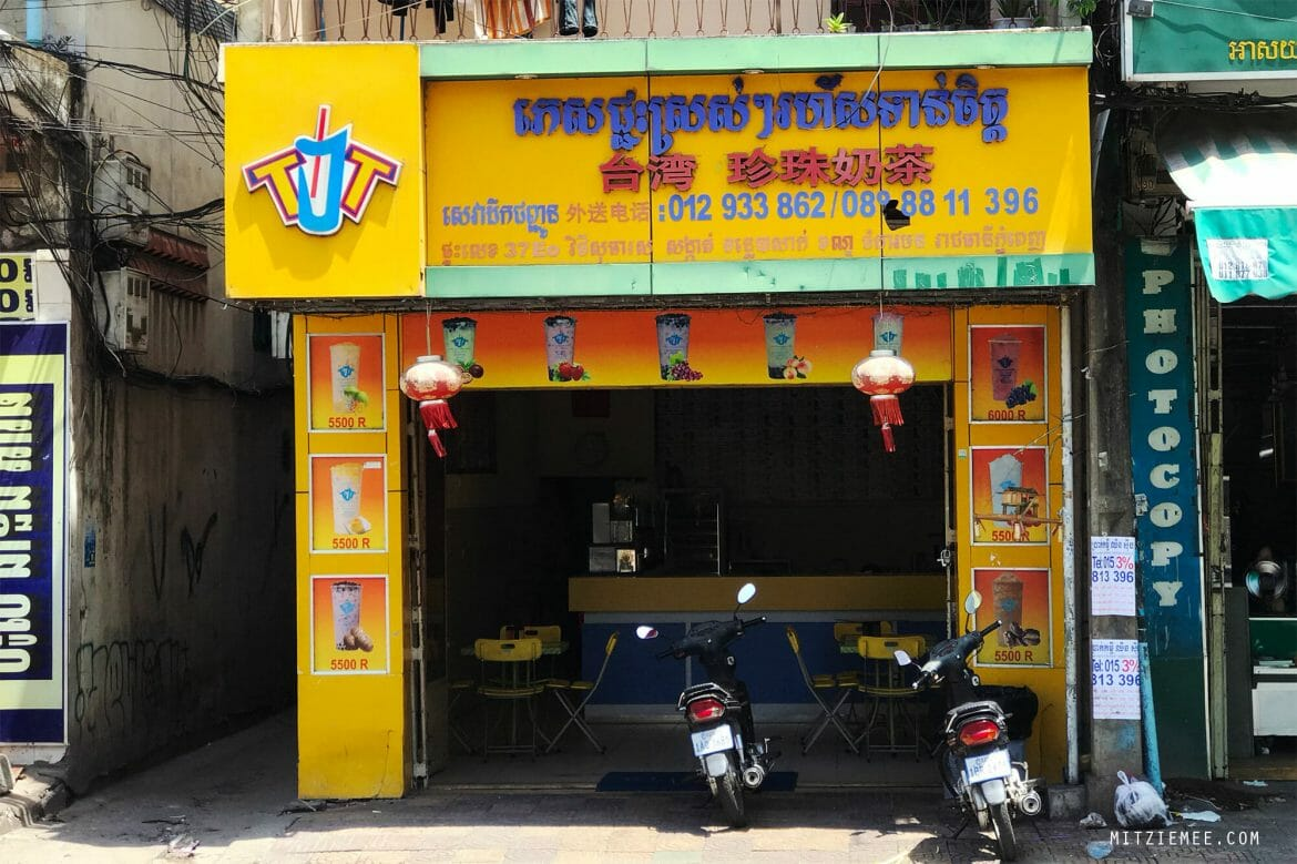The T&T Taiwan Bubble Tea Shop in Phnom Penh