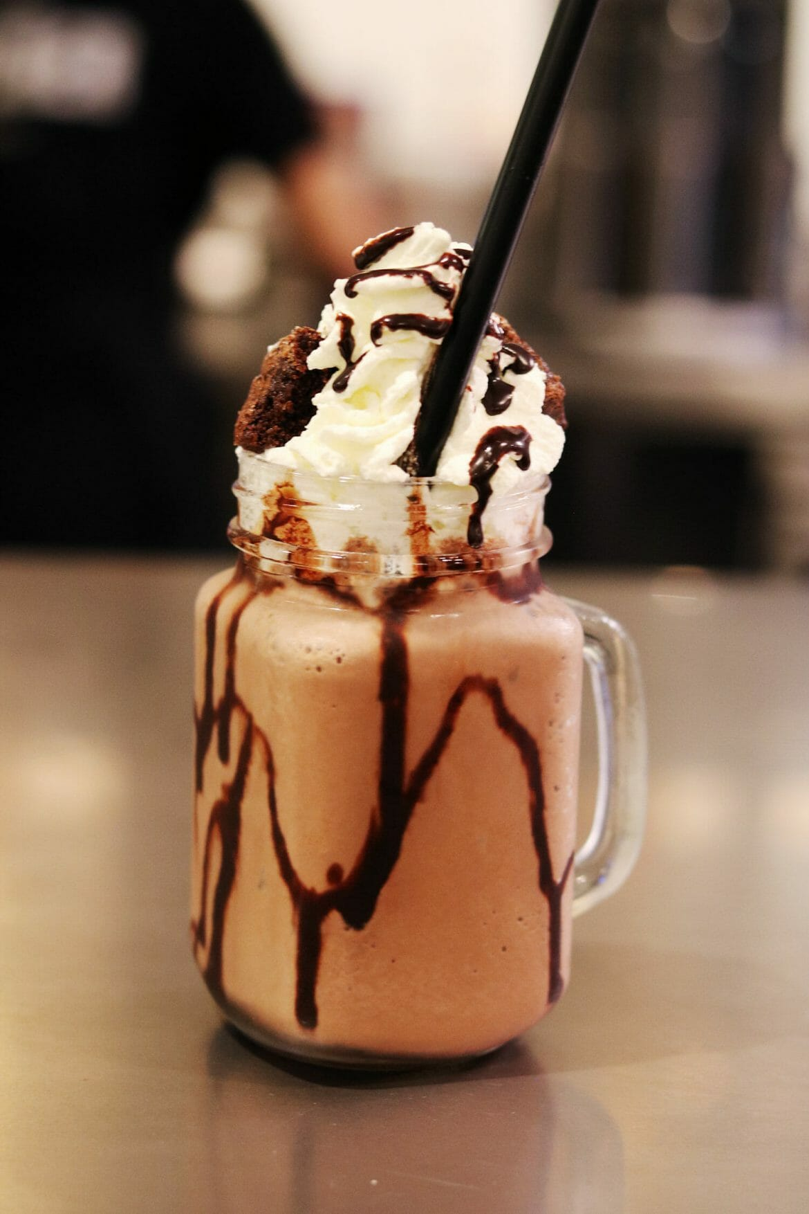 Chocolate Milkshake at The Butcher, burger restaurant in Dubai Marina