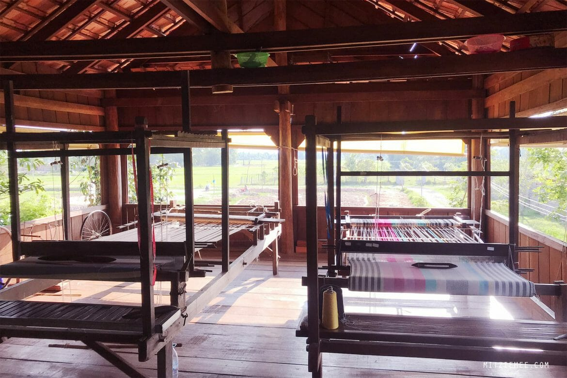 The looms at Weavers Project, Takeo, Cambodia