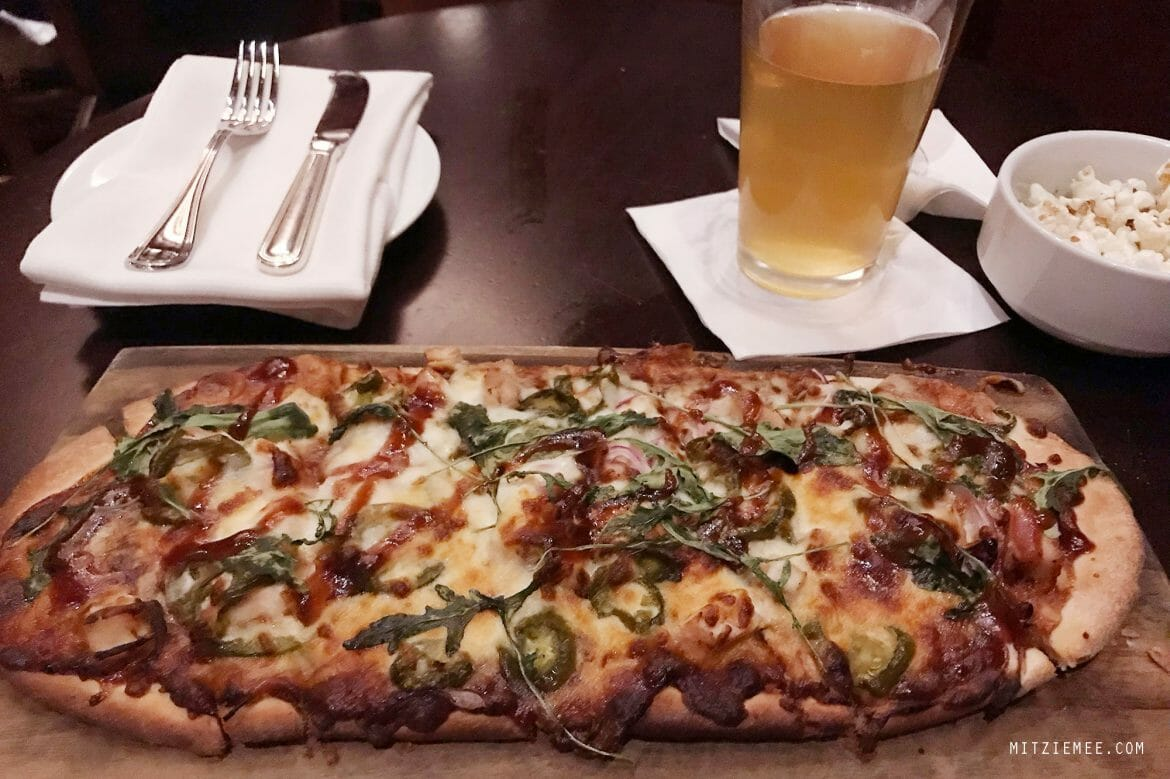 Flatbread in the bar at InterContinental in Buckhead, Atlanta