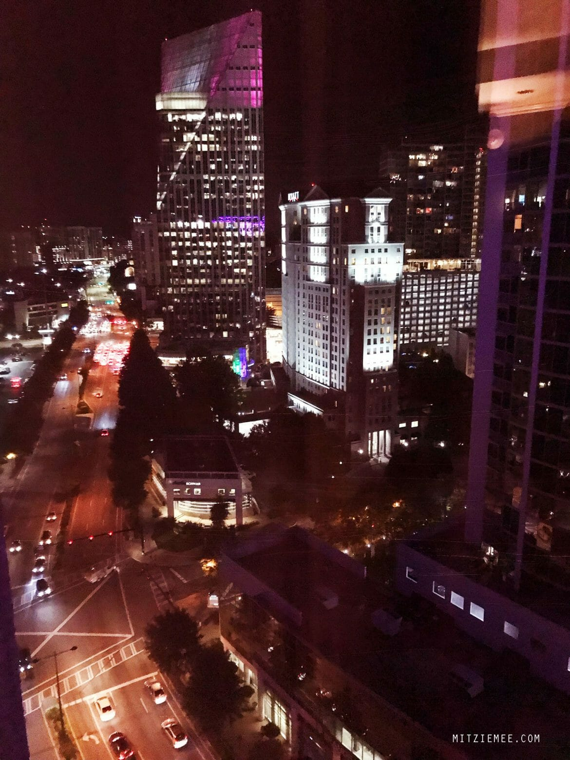 View from the lounge at InterContinental in Buckhead, Atlanta