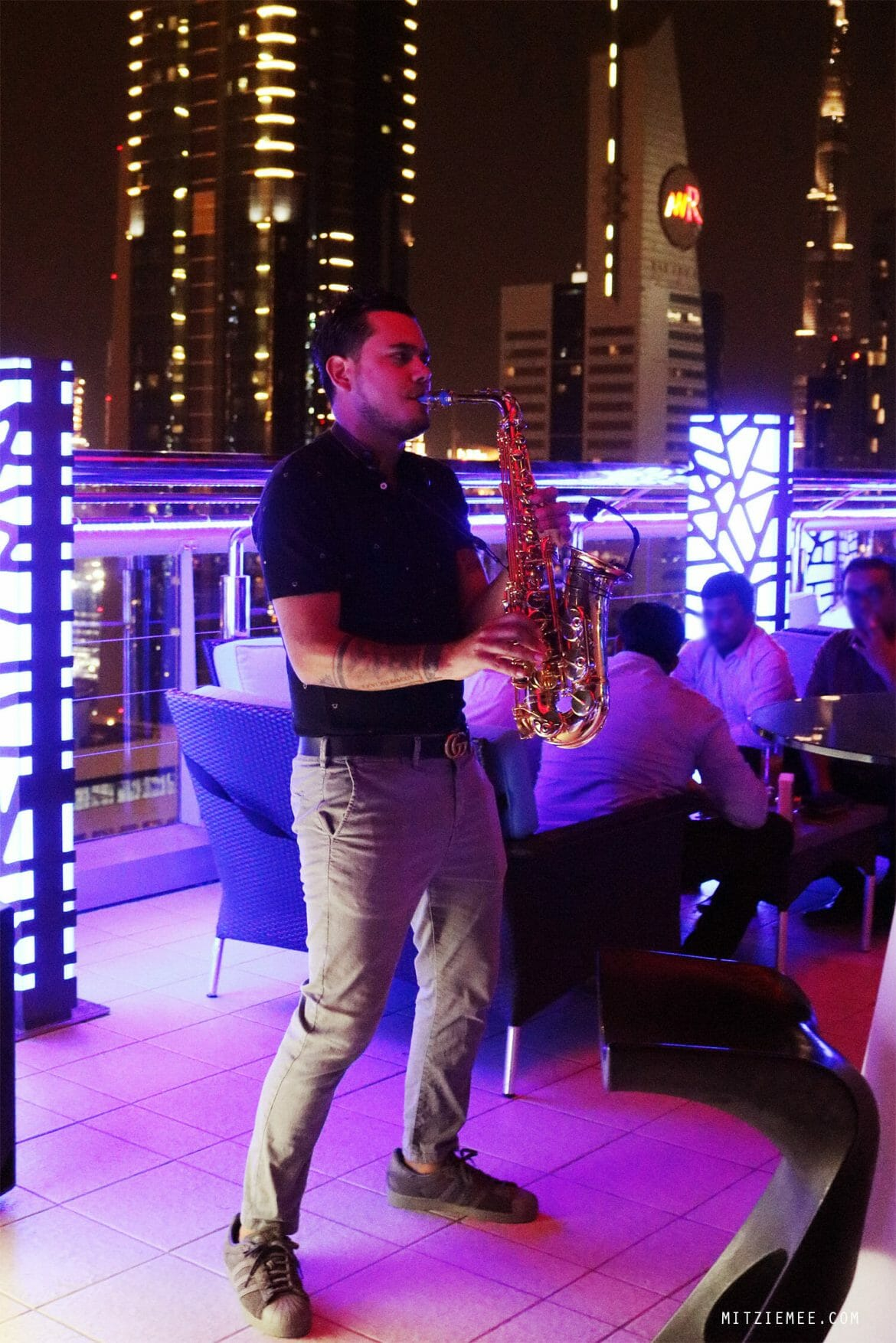 Saxophone night at Level 43, Dubai rooftop bar