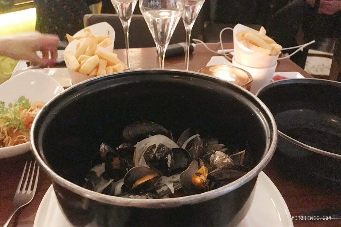 Moules Marinière at Café Belge at The Ritz-Carlton DIFC Dubai