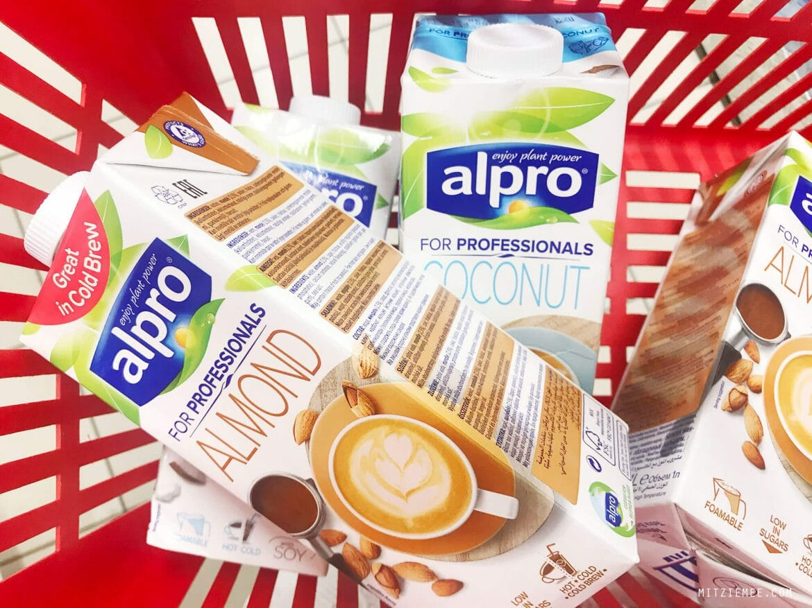 Alpro Coconut Milk for Professionals and Alpro Almond milk for Professionals, non-dairy milk
