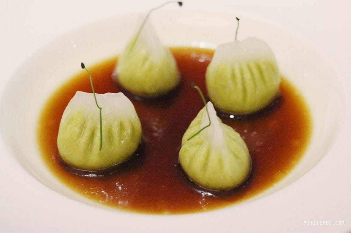 Dumplings with truffle and Edamame, Nara restaurant in JLT