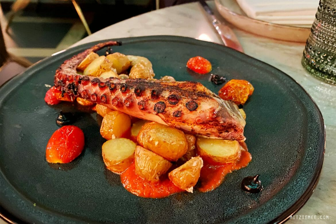 Grilled octopus, Lamia's Fish Market, East Village, New York