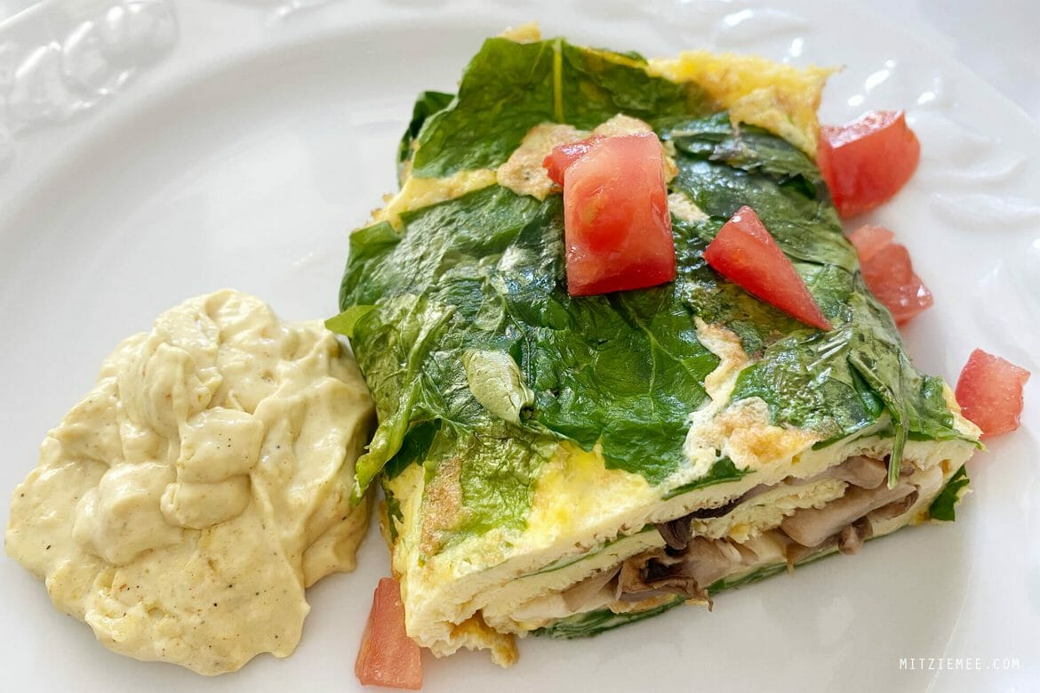 Spinach mushroom and tomato omelette, IHOP Dubai home delivery