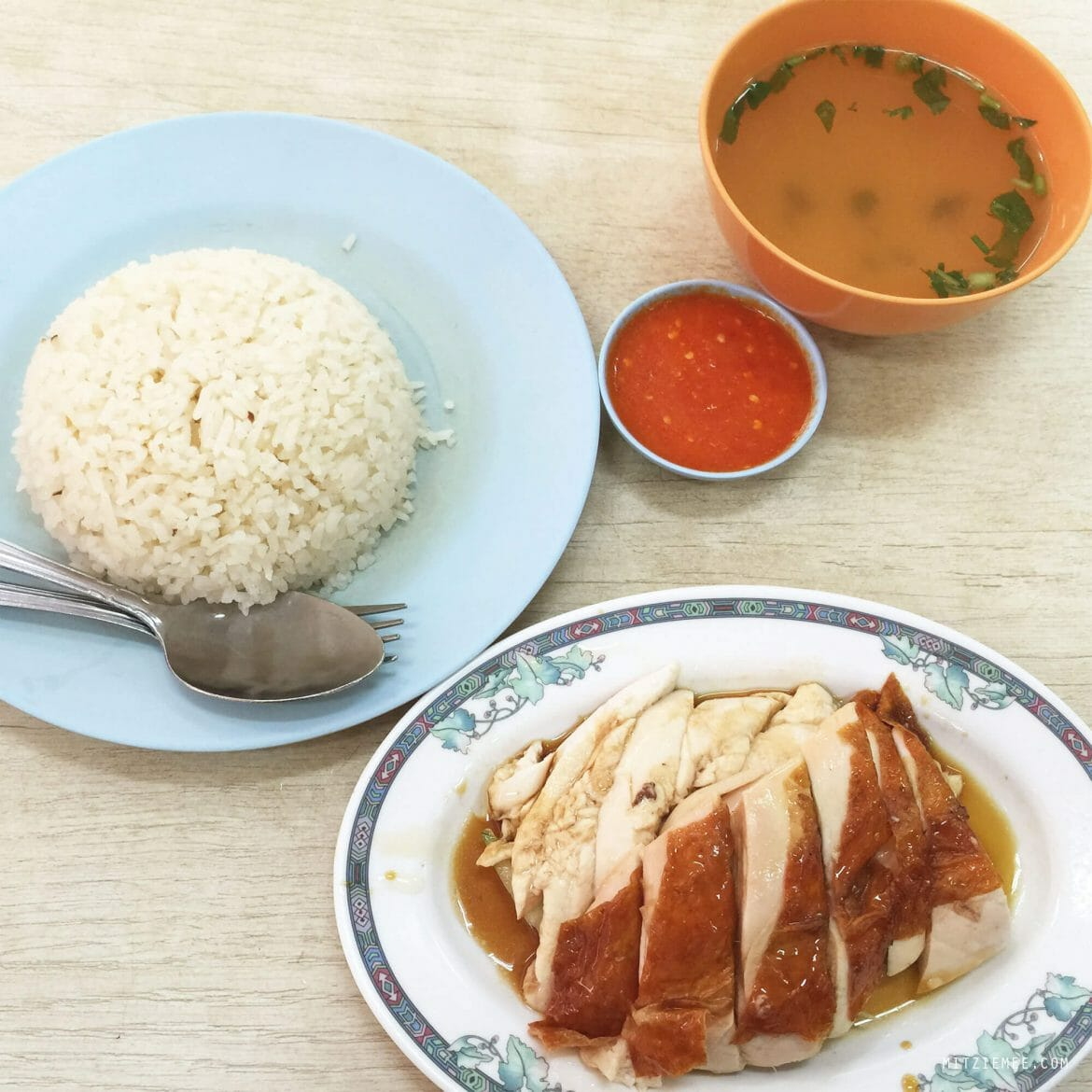 Leong Yeow Famous Waterloo Street Hainanese Chicken Rice in Singapore