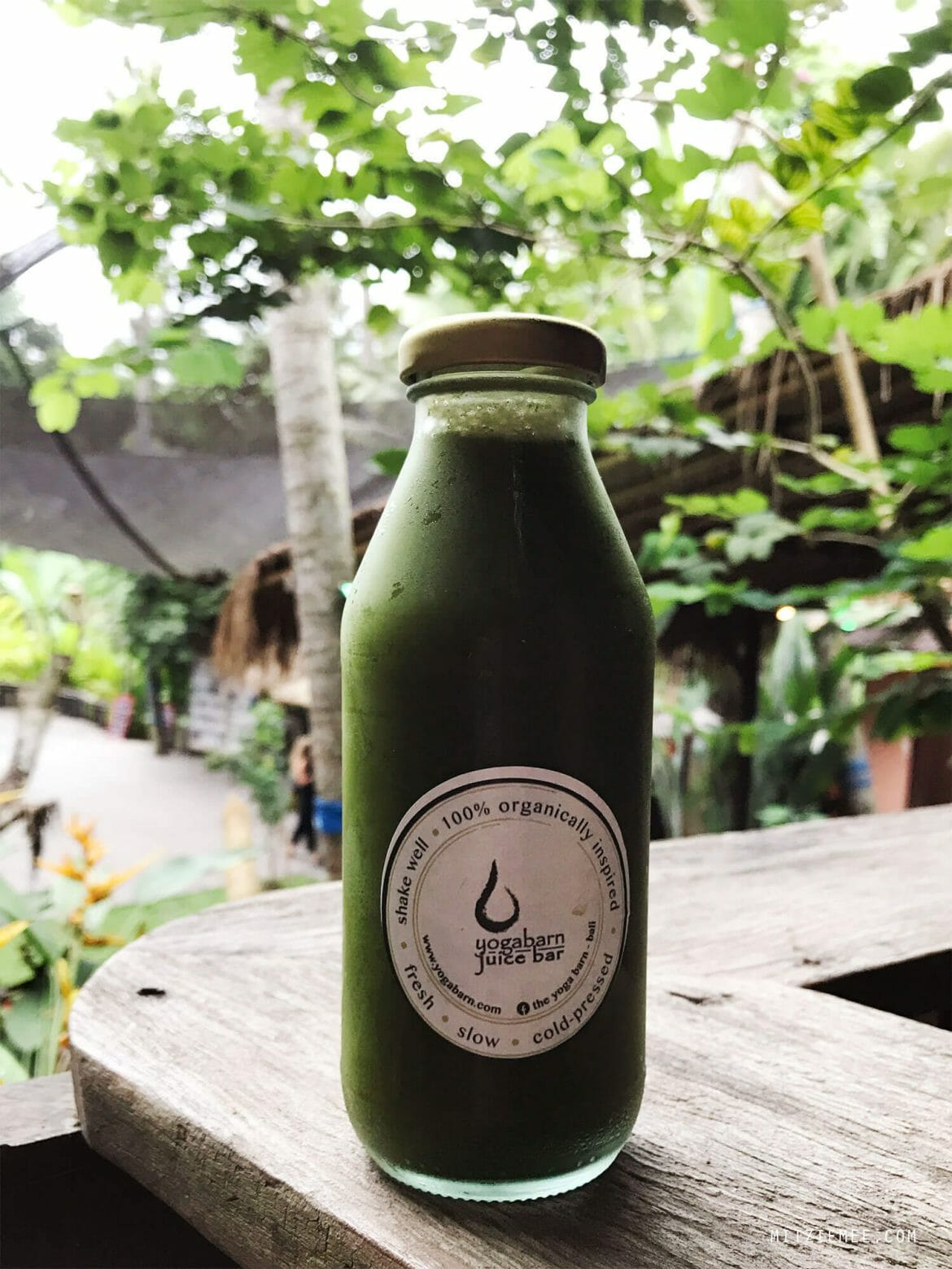cold-pressed juice at Yoga Barn in Ubud, Bali