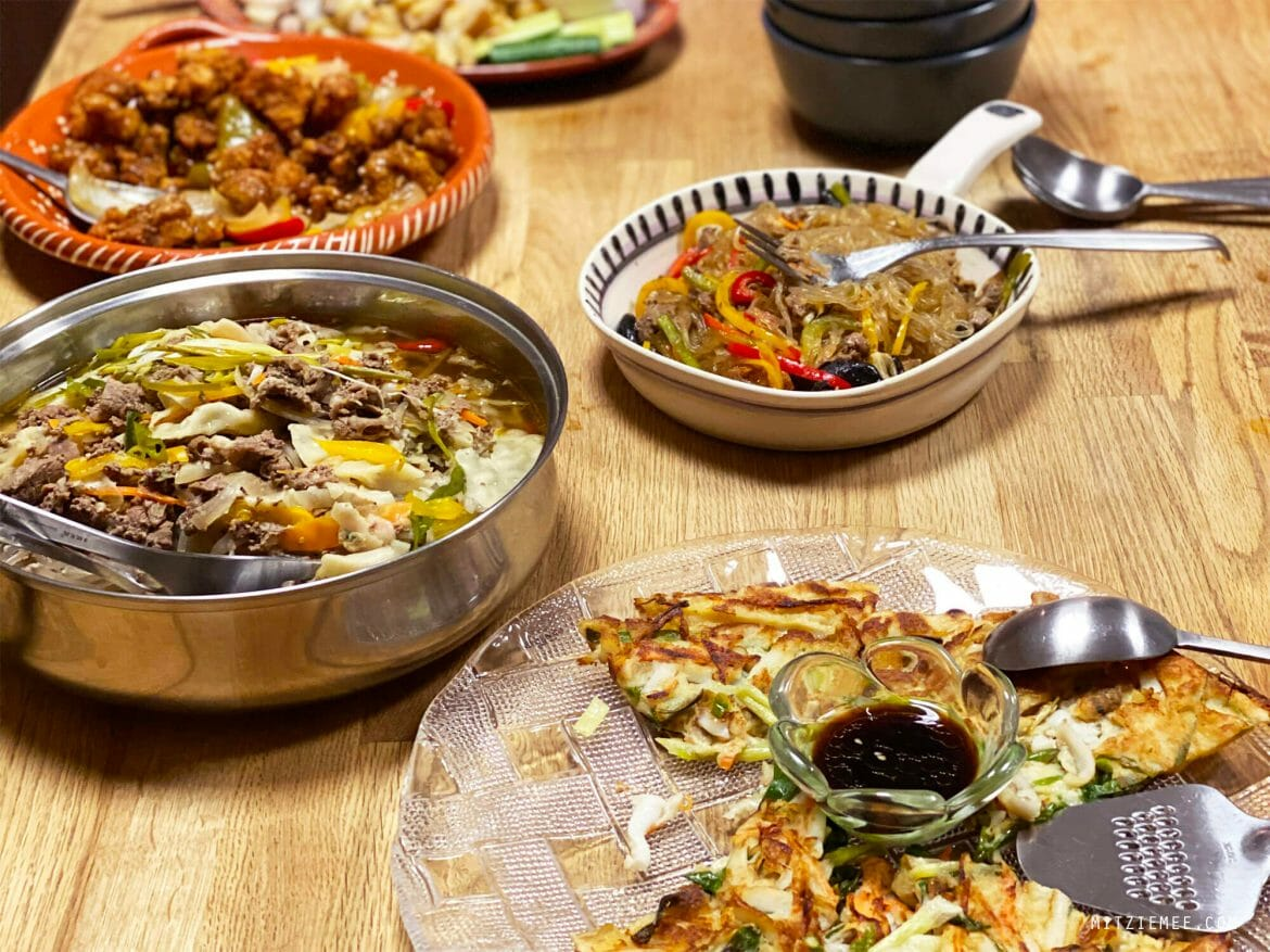 Korean dinner, take-out from Gangnam, Dubai